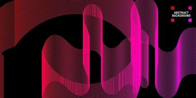 Modern abstract background with wavy lines in red and purple gradations vector
