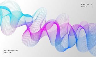 Fondo abstracto con línea de onda de color degradado azul y púrpura