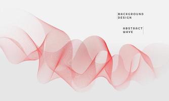 Fondo abstracto moderno con líneas curvas coloreadas en gradaciones rojas vector