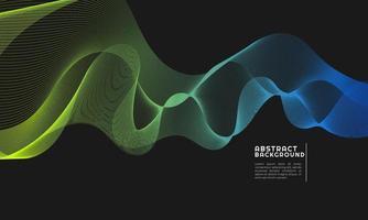 Fondo abstracto moderno con líneas curvas coloreadas en gradaciones de amarillo y azul vector