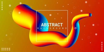 Modern abstract liquid 3d background with colorful gradient vector