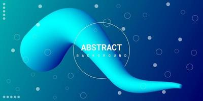 Modern abstract liquid 3d background with blue gradient vector