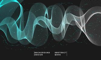 elemento de onda abstracta para el diseño, en color degradado azul y blanco vector