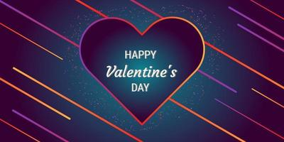 Valentine's day abstract background with heart shapes vector