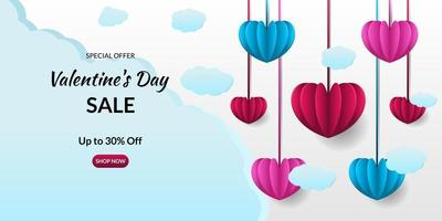 romantic valentine's day background vector