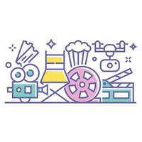 Cinema and Filming Illustration vector