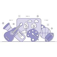 Hobbies and Activities Concept Illustration vector