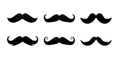 Mustache collection design vector set