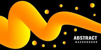 Modern abstract liquid 3d background with yellow gradient