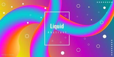 Fondo 3d líquido abstracto moderno con degradado colorido