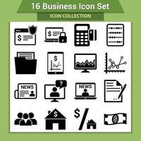 conjunto de iconos de negocios vector