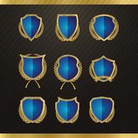 Gold Metal Badges Set vector