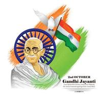 2nd october gandhi jayanti for creative design vector