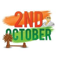 Gandhi jayanti is a national festival vector