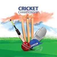 Cricket tournament match design concept vector