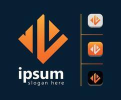 nueva plantilla de diseño de logotipo naranja profesional vector