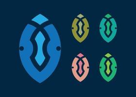 iv diseño de logotipo para plantilla de negocios vector