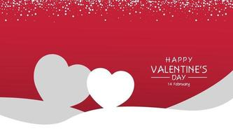 Two hearts valentine day greeting