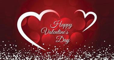 hermosa tarjeta de felicitación feliz del día de san valentín vector