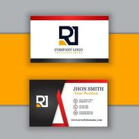 Modern professional business card template vector
