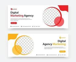 business marketing banner design template vector