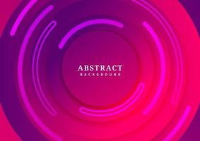 Abstract background red and purple circle border overlapping with shadow. Paper style. vector