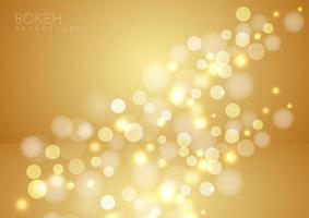 Abstract gold blurred background with bokeh. vector