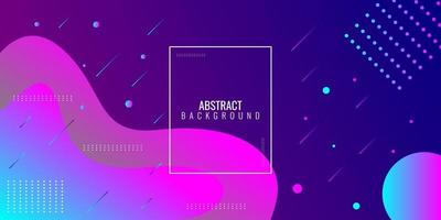 Modern abstract purple and blue gradient wavy geometric vector
