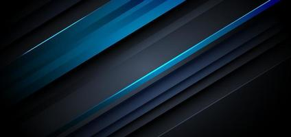 Template diagonal lines blue and dark overlapping layers background. vector