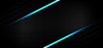 Abstract template black strip line diagonal with light blue effect on black texture with copy space for text. Technology style. vector