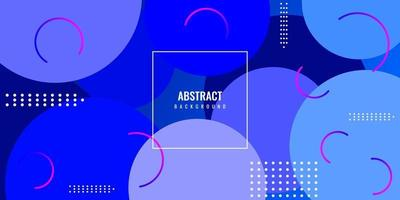 Modern geometric abstract background with blue circle vector