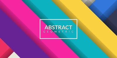 Modern abstract geometric rectangle colorful background vector