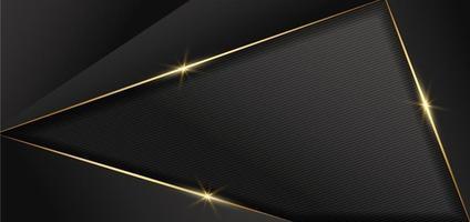 Diseño abstracto oscuro fondo geométrico decoración líneas doradas con espacio para copiar texto. estilo de lujo. vector