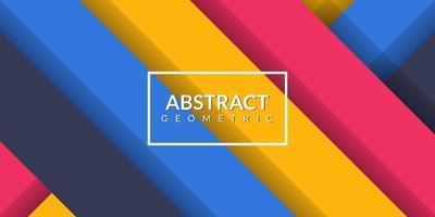 Fondo colorido del rectángulo geométrico abstracto moderno vector