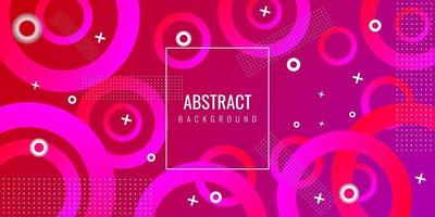 Modern geometric abstract background with circle vector