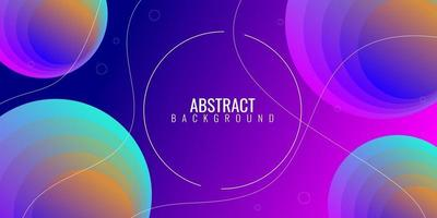Modern geometric abstract background with colorful gradient vector