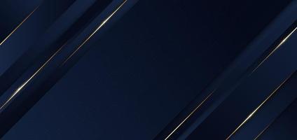 Plantilla abstracta fondo diagonal geométrico azul con línea dorada. estilo de lujo. vector