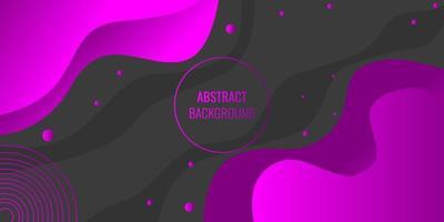 Modern abstract purple gradient wavy geometric vector