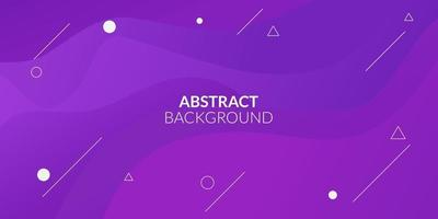 Modern abstract purple gradient geometric vector