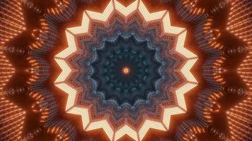 Colorful lights and shapes kaleidoscope 3d illustration for background or walllpaper photo