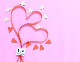 Valentine's Day ribbon hearts photo