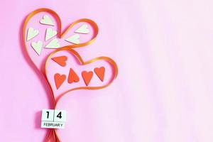 Ribbon hearts for Valentine's Day photo