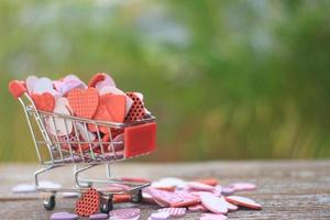 Hearts in a cart photo