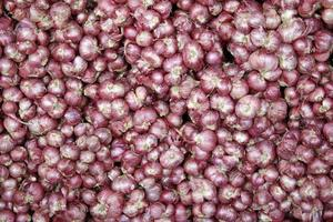 Pile of shallots