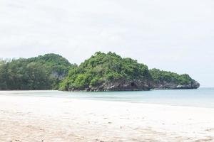 Island and sandy beach