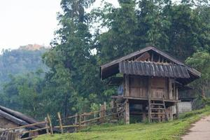 Old wooden house in rural Thailand
