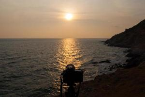 Camera at sunset
