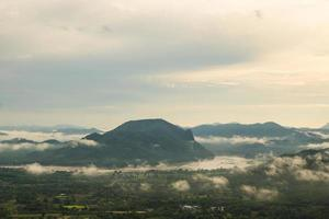 Mountains and mist in the morning