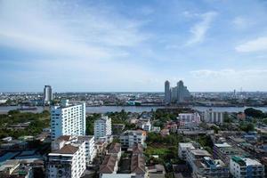 vista de ángulo alta, de, bangkok foto