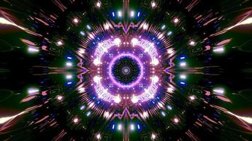 Colorful light and shapes kaleidoscope 3d illustration for background or wallpaper